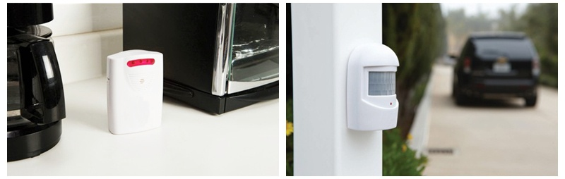 ELM-8178 wireless security alarm package can be place anywhere you want
