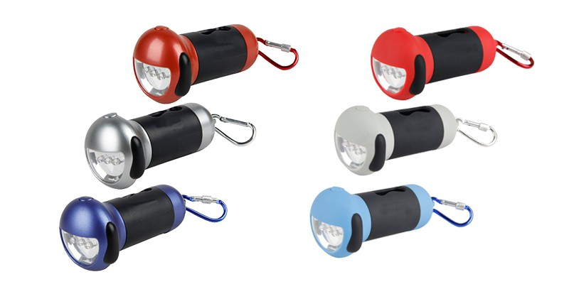 Flashlight Dispenser ELM-P-A Flashlight Dog Waste Bag Dispenser