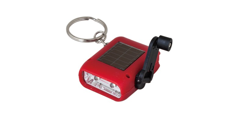 Solar Crank LED Flashlight ELM-8164