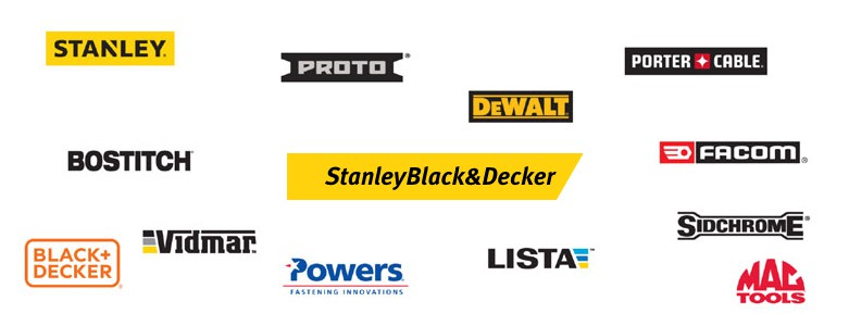 Top Tool Brands of Stanley Black & Decker.