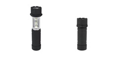 LED Telescopic Flashlight ELM-8142 FD, swivel head flashlight with extendable LED light body, compact and handy.